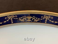 Richard Ginori Castello 59 Pièce 12 Réglages De La Place Gold Cobalt Blue Dîner Salade