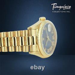 Rolex Mens Day-date 18038 Or Présidentielle Cobalt Blue Diamond Roman