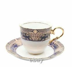 Royalty Porcelain 49-pc Cobalt Blue Banquet Dinner Set For 8, 24k Or