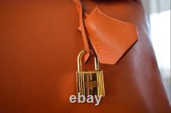 Sac Hermès Édition Limitée Birkin 30 Orange Cobalt Swift Gold Hardware Stamp