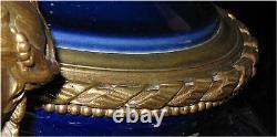 Sevres Porcelaine & Doré Vase Bronze Epoque Urn Correspondance Paire 1860