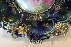 Superbe Rs Prusse Cobalt Gold Bowl Marqué