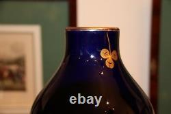 Vase Bleu Cobalt Vase En Porcelaine Bleu Sèvres Vase En Porcelaine Weddding Cadeau Or