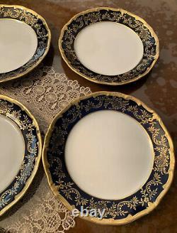 Weimar Katharina Cobalt Blue/gold Demitasse Coffee 23 Pc- Set. Fabriqué En Rda