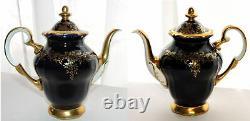 Weimar Katharina Tea Coffee Set Cobalt Blue Gold Coffee Pot Cups Saucers Sucre
